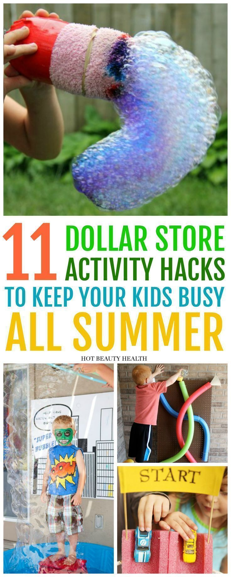 11 Fun Activities to DIY This Summer From The Dollar Store - Hot Beauty Health -   16 diy projects Dollar Store kids ideas