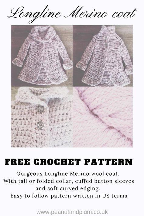 Longline Merino Wool Coat – Free Crochet Pattern – Peanut and Plum ...