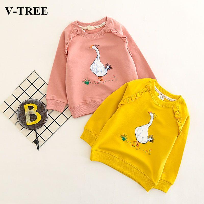 2d44026ad V-TREE Girls T Shirt Cartoon Tops For Children Long Sleeve Girl T ...