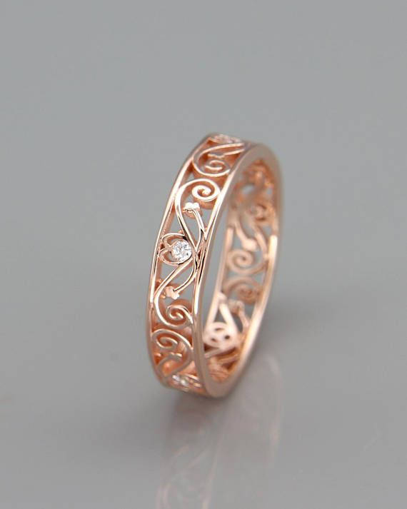 The Symbol Of My Love For You Filigree Style Wedding Ring Set With