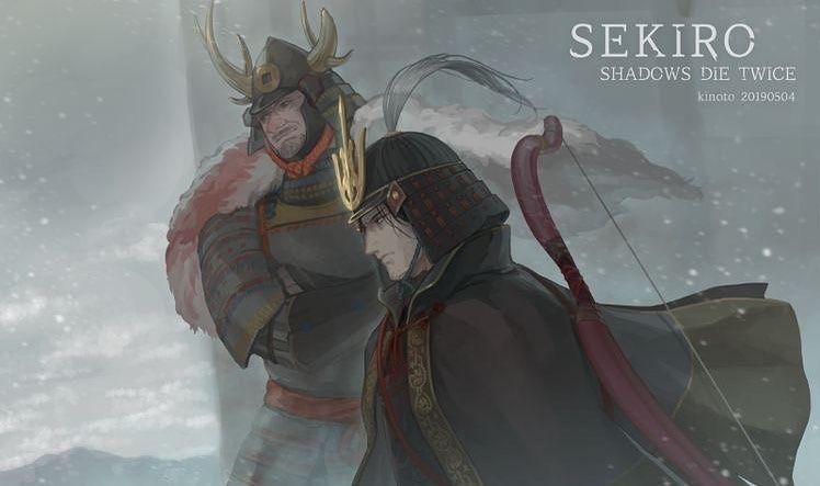 Sw Engineer Music Buff Gamer On Instagram Gyoubu Masataka Oniwa Genichiro Ashina Sekiro Shadows Die Twice Check The St Dark Souls Shadow Character Art