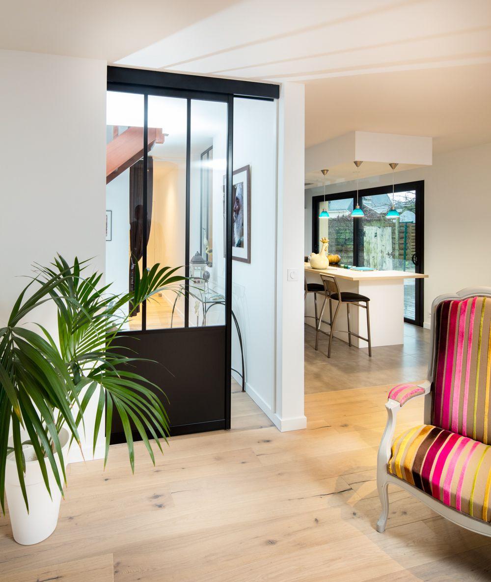 porte coulissante atelier sur mesure en aluminium gris anthracite existe aussi en blanc sable. Black Bedroom Furniture Sets. Home Design Ideas