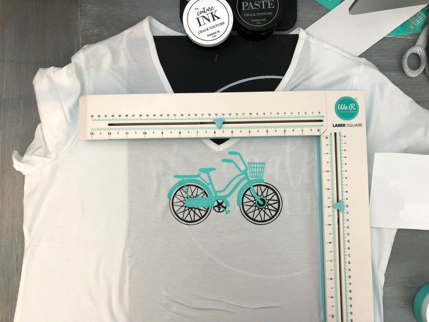 Diy Steps And Supplies For Chalk Couture Ink With Silk Screen Transfer At Home T Shirt Making