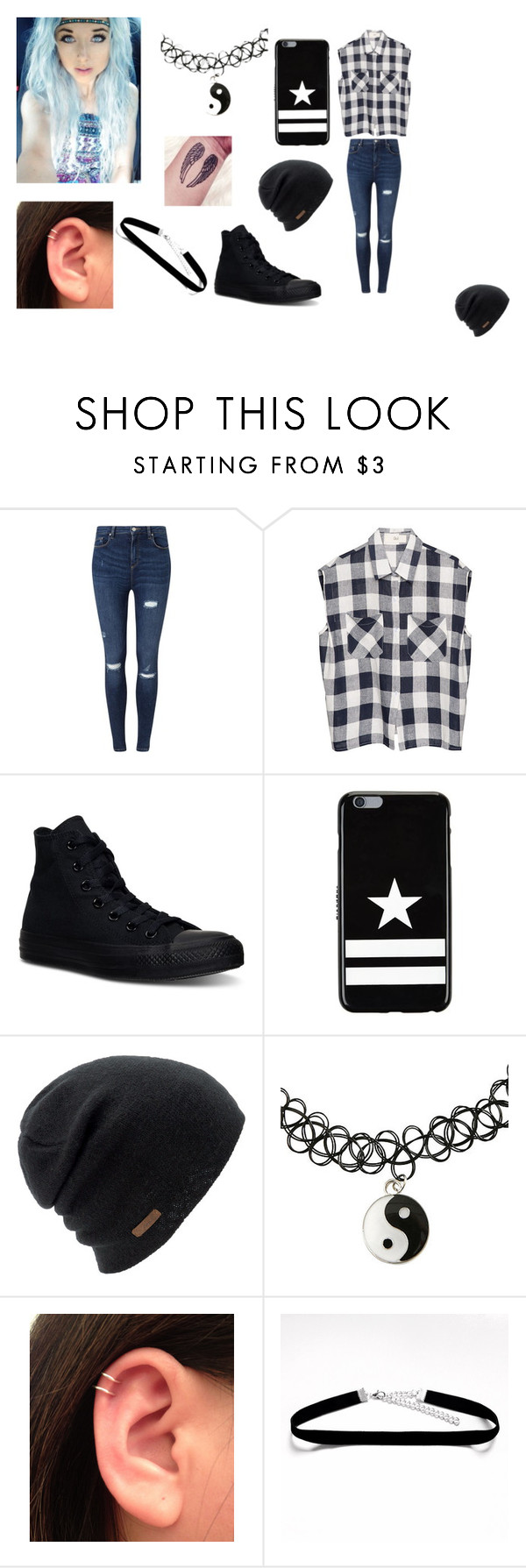 """wattpad"" by kennajayce on Polyvore featuring Miss Selfridge, Converse, Givenchy and Coal"