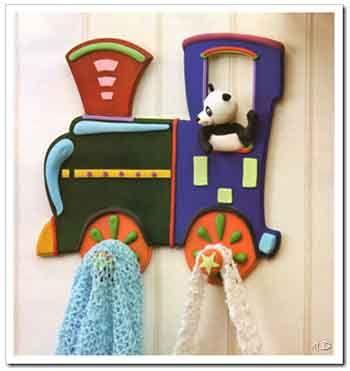 Perchero infantil locomotora porcelana pinterest - Perchero pared infantil ...