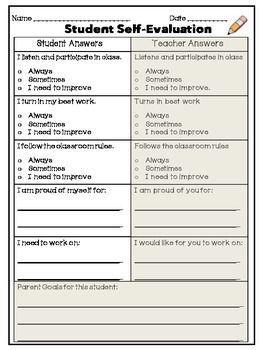 Student Led Conferences Worksheets - Checks Worksheet