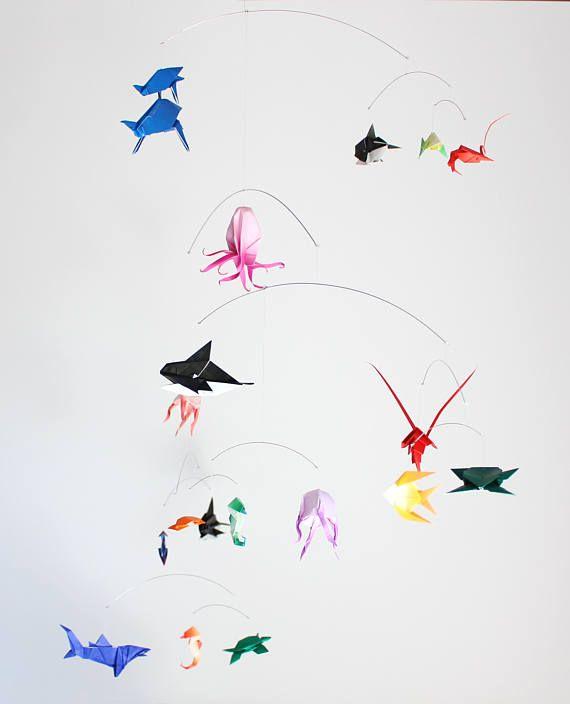 6 Origami Under the Sea Animal assortment: Shark, Seahorse, Turtle ... | 704x570