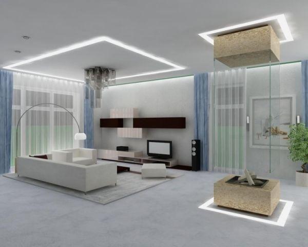 Stunning Led Beleuchtung Wohnzimmer Ideen Contemporary - Rellik.Us