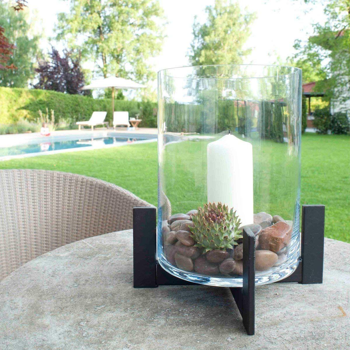 Varia Living Großes Windlichtlaterne Mit Glas Aus Metalleisen Für