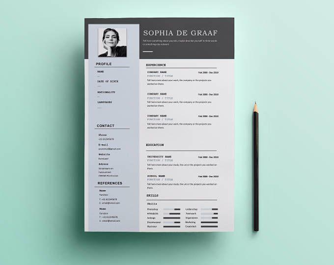 Cute \ Minimal Resume Template HEYCV CV Template Professional - creative resume templates microsoft word
