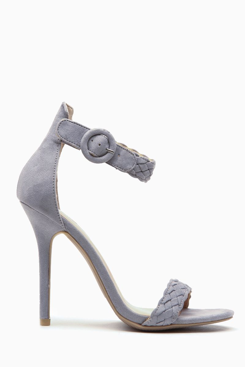 267f3a67cdc9 Grey Faux Suede Single Sole Heels   Cicihot Heel Shoes online store  sales Stiletto Heel Shoes