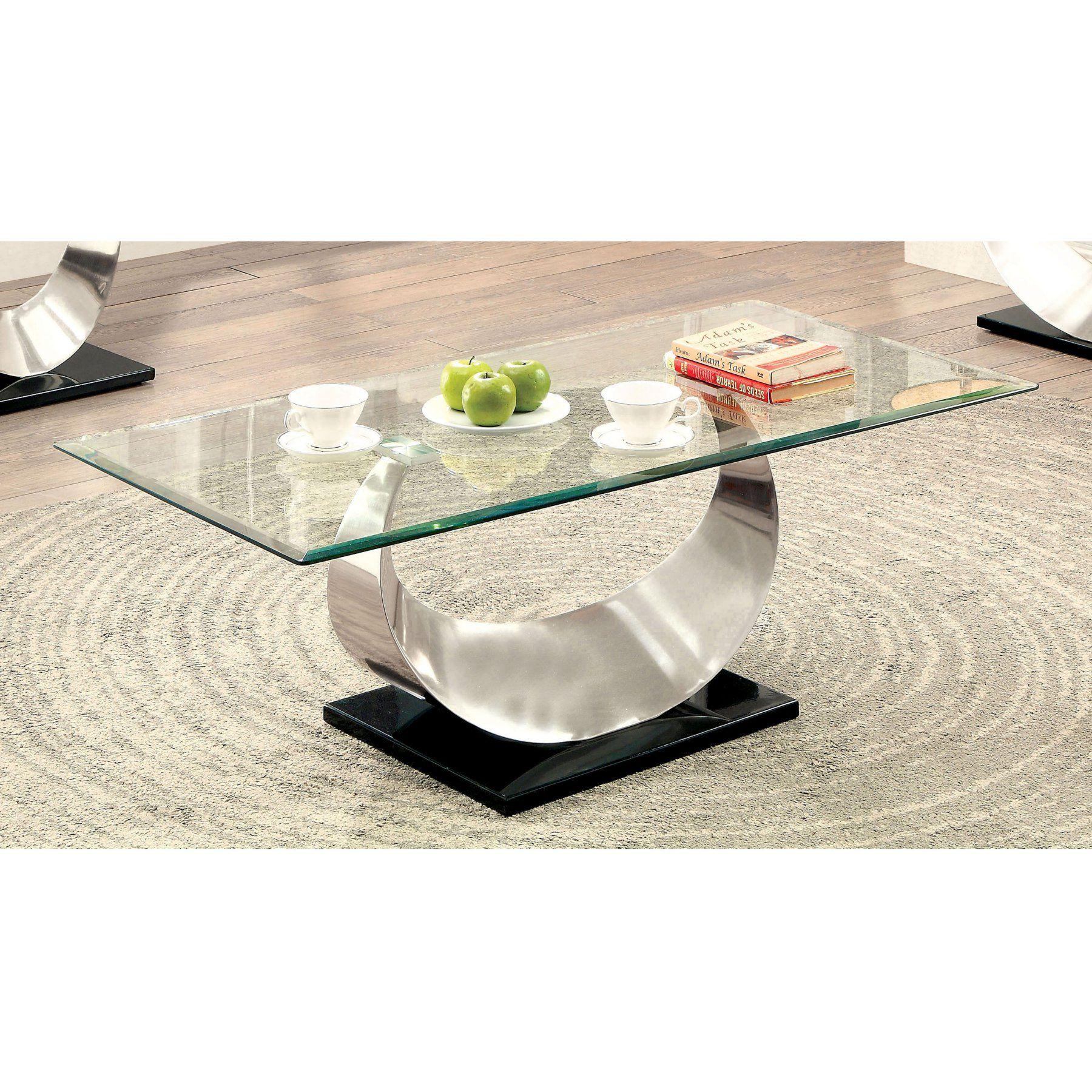 Furniture Of America Meryl U Shaped Base Coffee Table Coffee Table Contemporary Coffee Table Furniture Of America [ 1800 x 1800 Pixel ]