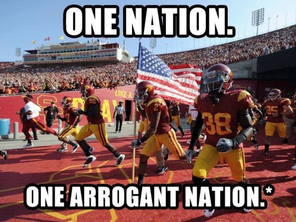 2012 Arrogant Nation Mission Statement Usc Trojans Football Usc Athletics Usc Trojans