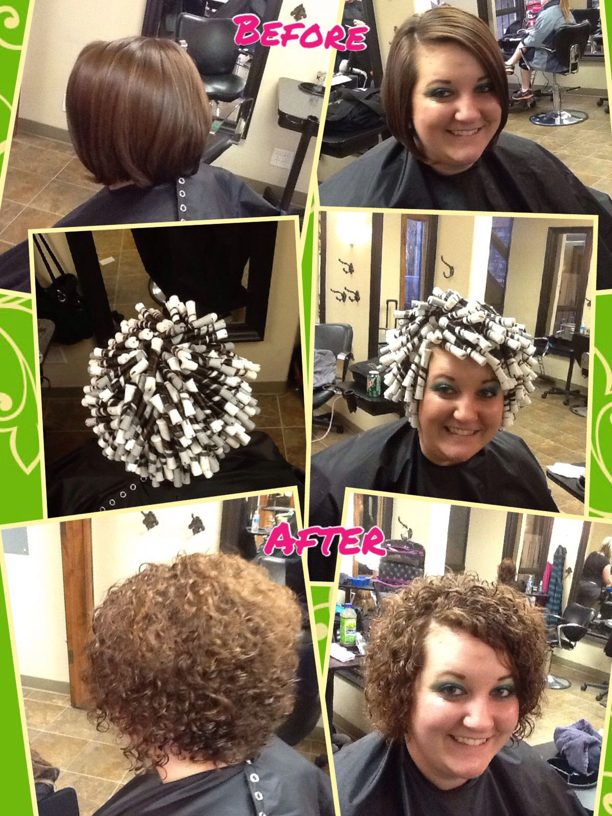 My First Spiral Wrap Perm Hair By Me Pinterest Short Hair