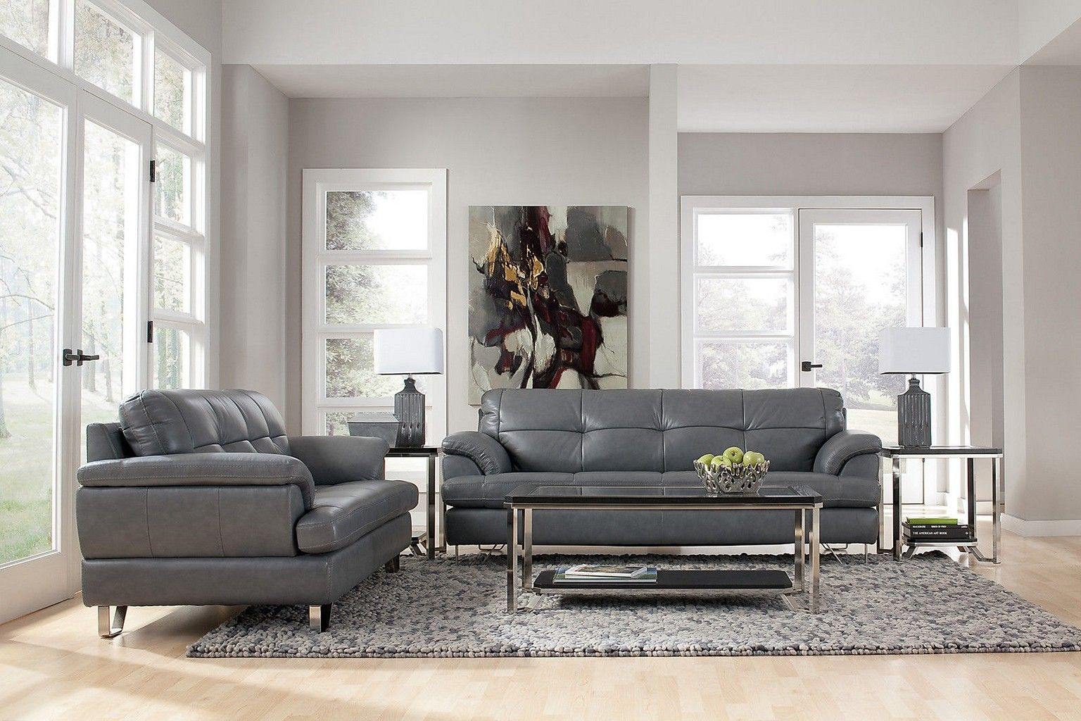 Living Room Design With Black Leather Sofa Alluring Beautiful Grey Sofa Living Room Image Grey Sofa Living Room Decorating Design