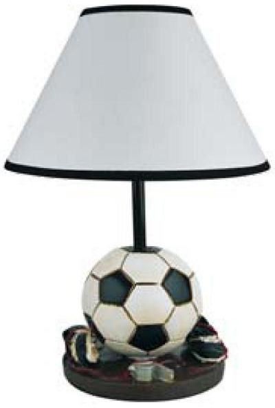Soccer Ball Cleats Welcome To The Manor Sports Themed Table Lamps