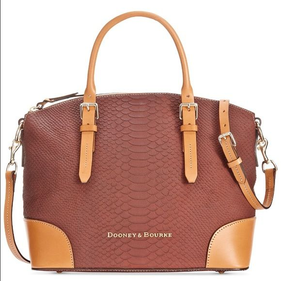 DOONEY & BOURKE PYTHON SATCHEL BRAND NEW WITH TAGS ➡️ Ⓜ️$300 Dooney & Bourke Bags Satchels