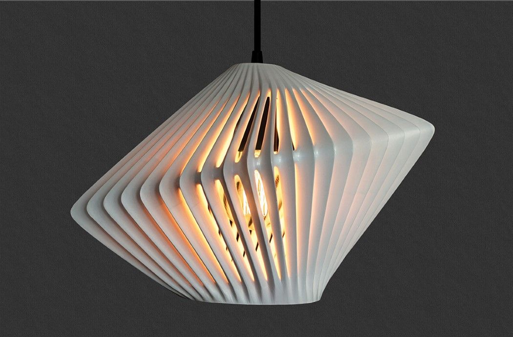 Here 39 S A Great Example Of How 3d Printing Really Helps A Designer Unleash Creativity We Spoke About T Pendant Lamp Shade Lamp Furniture Design Competition