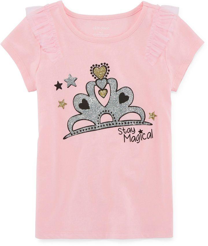ed84db34dacd71 Okie Dokie Graphic T-Shirt-Preschool Girls - JCPenney