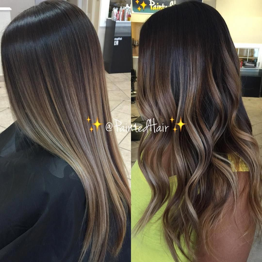 ombrehairstraight Brown hair balayage, Hair styles