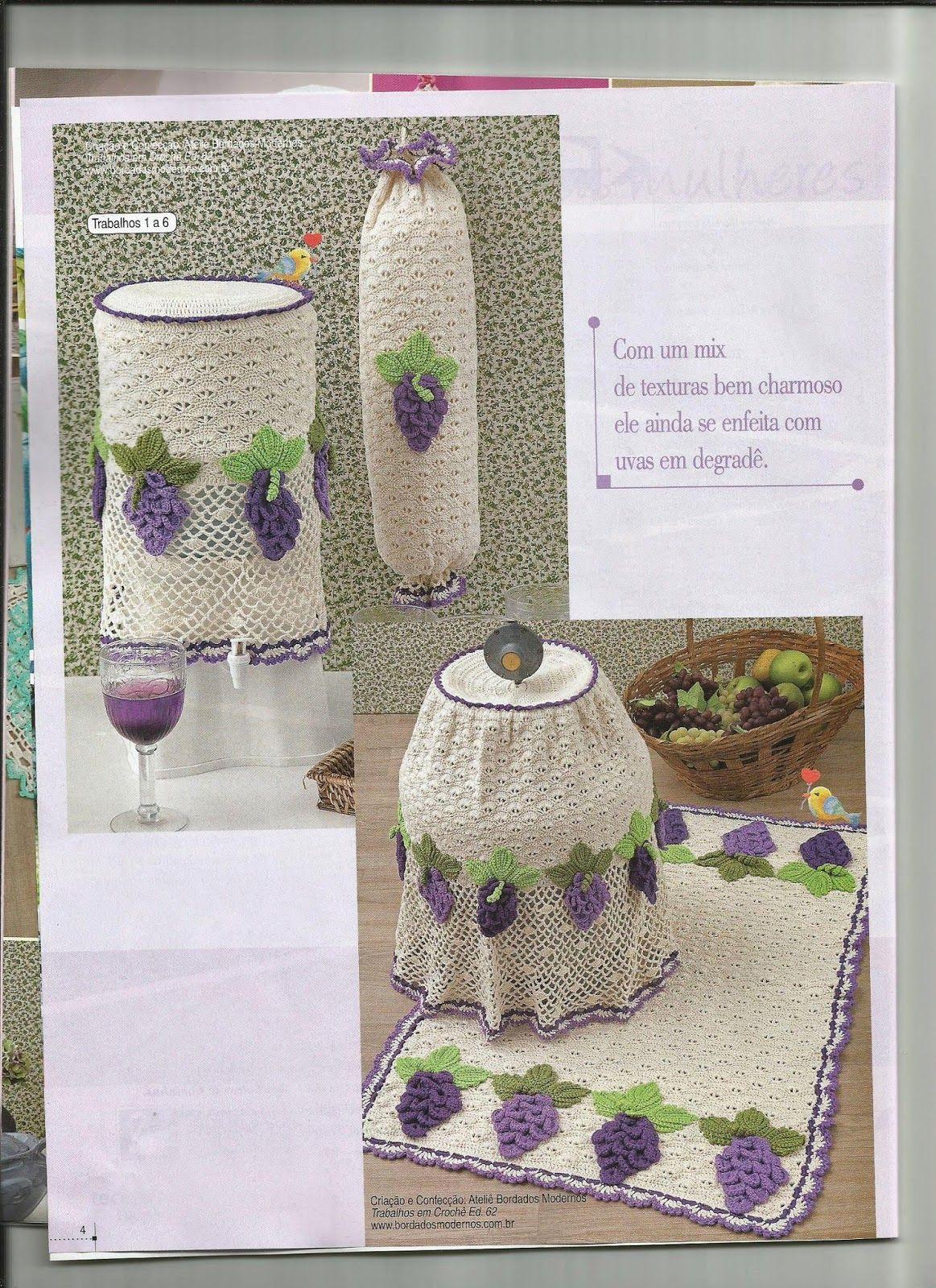 Croche Graficos E Receitas Jogo De Cozinha Ta Pinterest