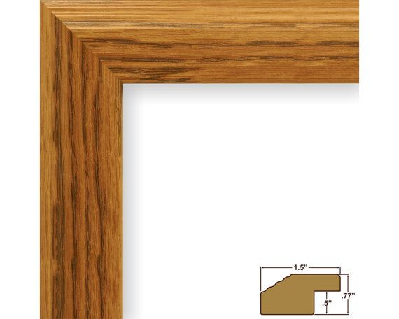 Craig Frames 10x13 Inch Light Oak Picture Frame Mossehaus 15
