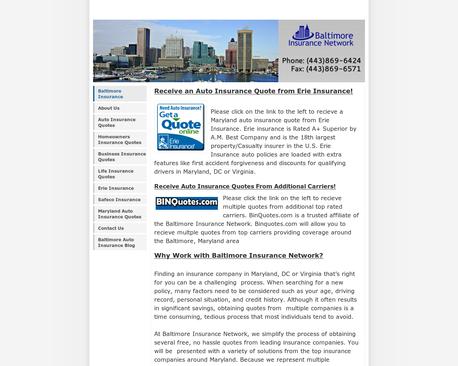 Http Baltimoreinsurancenetwork Com Baltimore Insurance