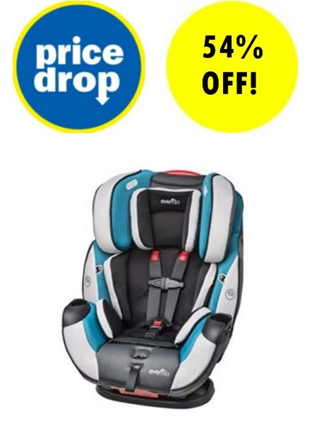 Amazon:+Evenflo+Symphony+DLX+All-In-One+Convertible+Car+Seat+$105.79 ...