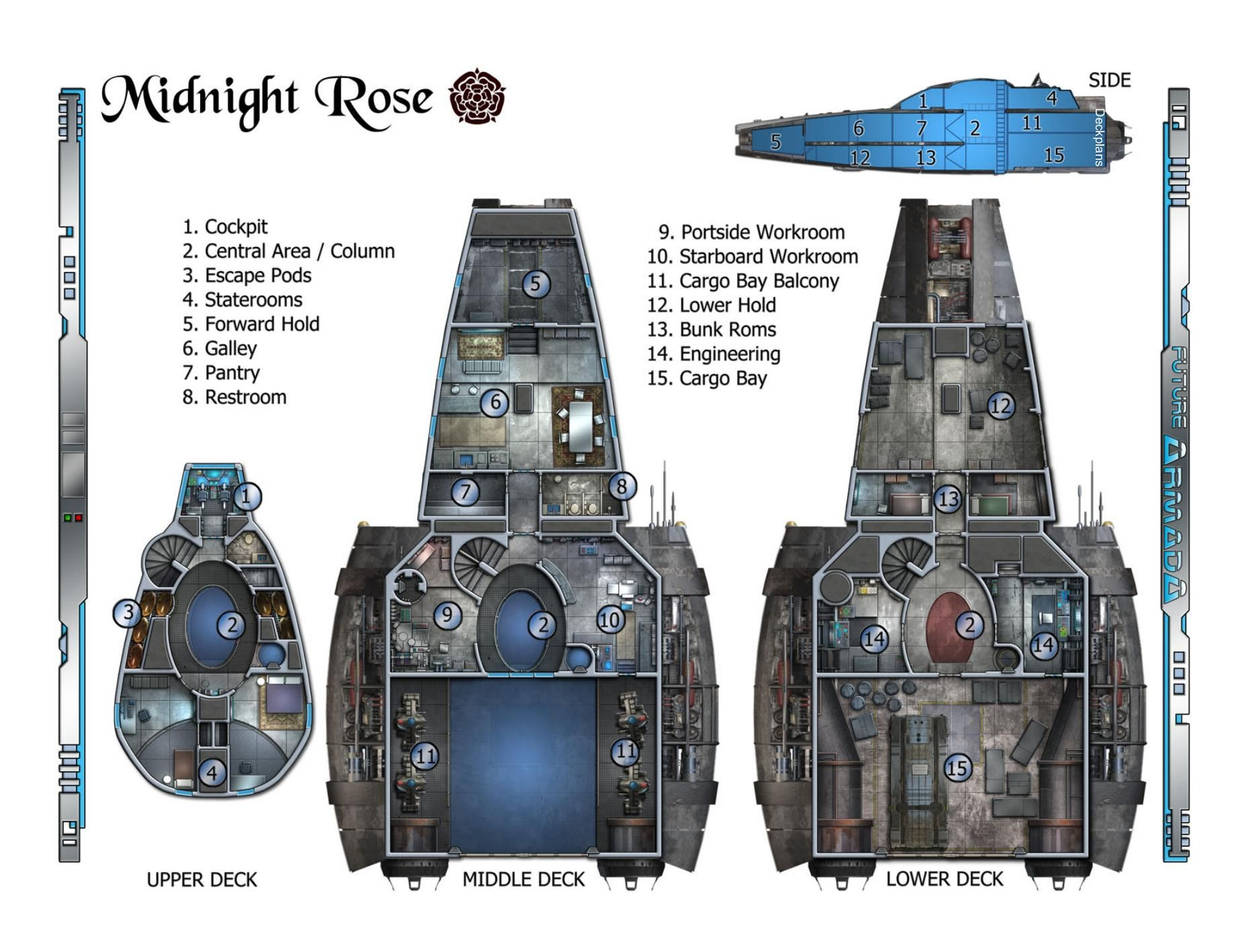Serenity Rpg Ship Layout Floor plans Main deck plans ...