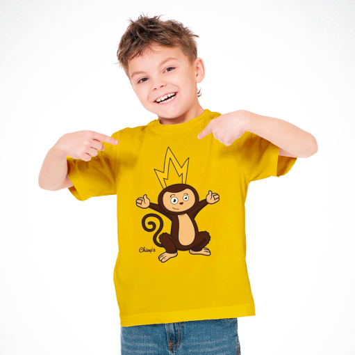 T-Shirt Amarela Chimp