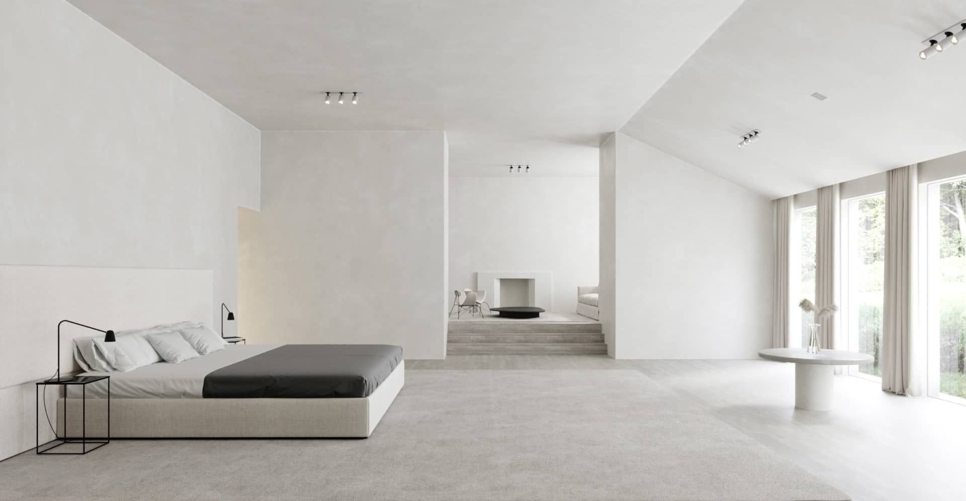 A Project Of The Minimalist Home Kim Kardashian And Kanye West In Hidden Hills California In 2020 Minimalist Home Minimalism Interior Kim And Kanye House