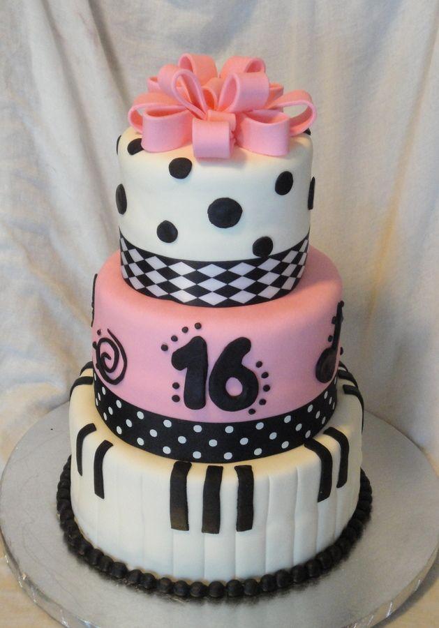 sweet 16 cake Musical Sweet 16 Birthday Cakes Destanys sweet