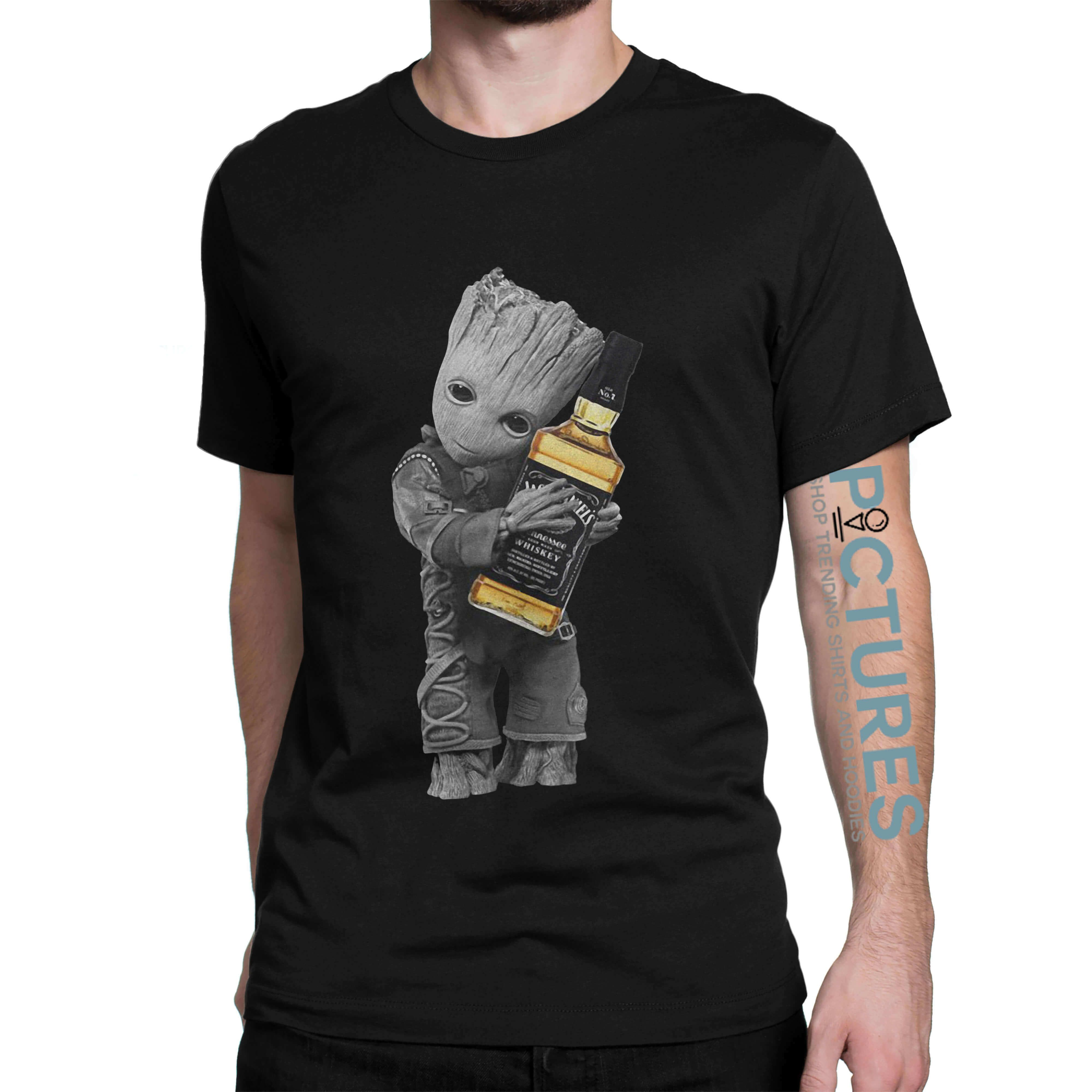 984f27ba6bc Official Baby Groot hug Jack Daniel s shirt