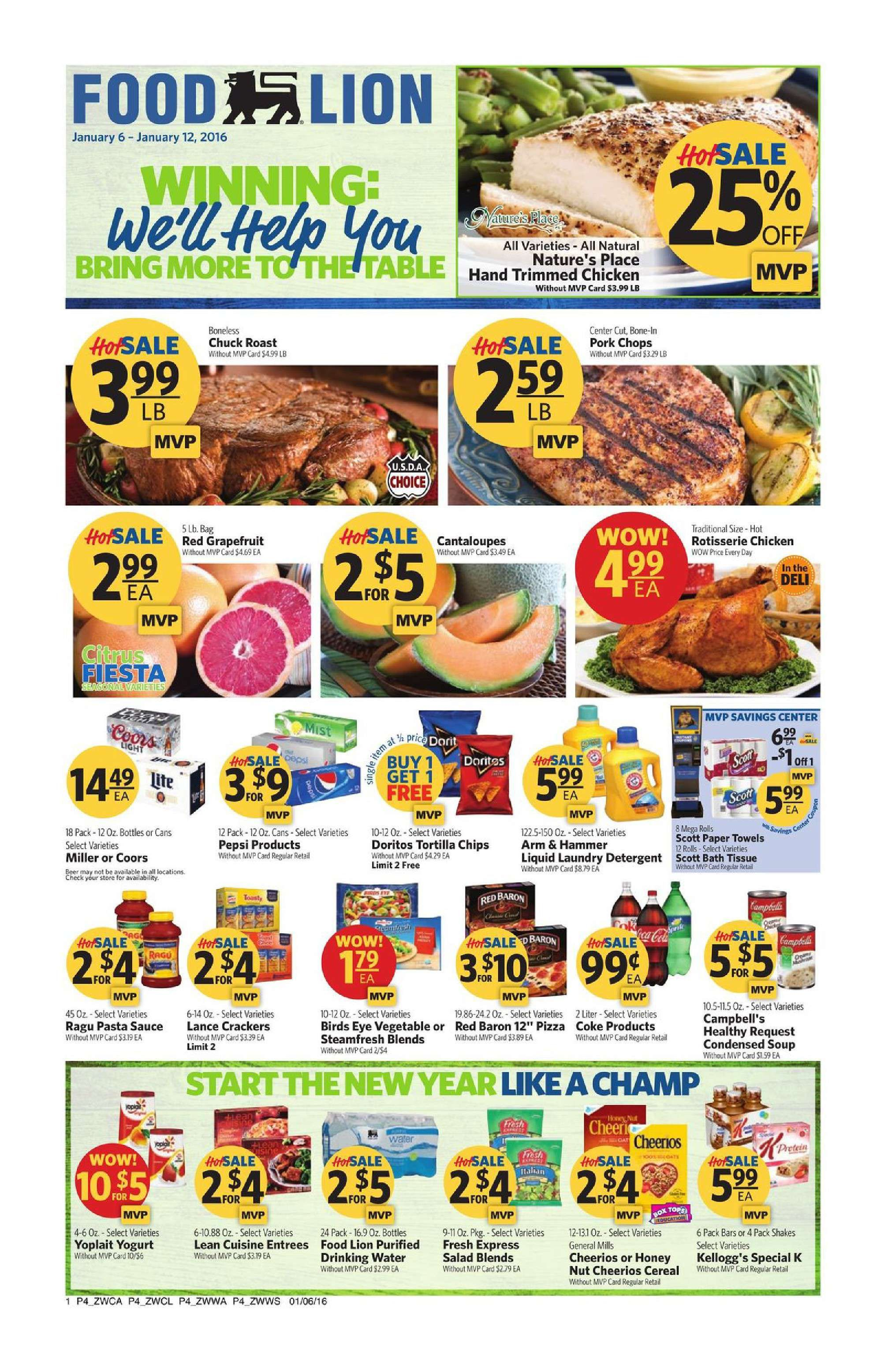 Food lion weekly ad january 6 12 2016 httpwww