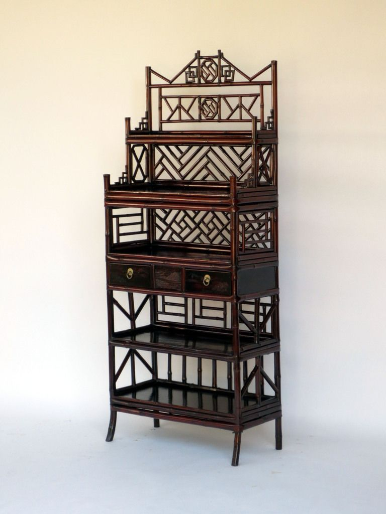 Lovely Bamboo Etagere   HA 128