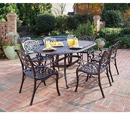 Amazon Com Home Styles 5555 338 Biscayne 7 Piece Outdoor Dining