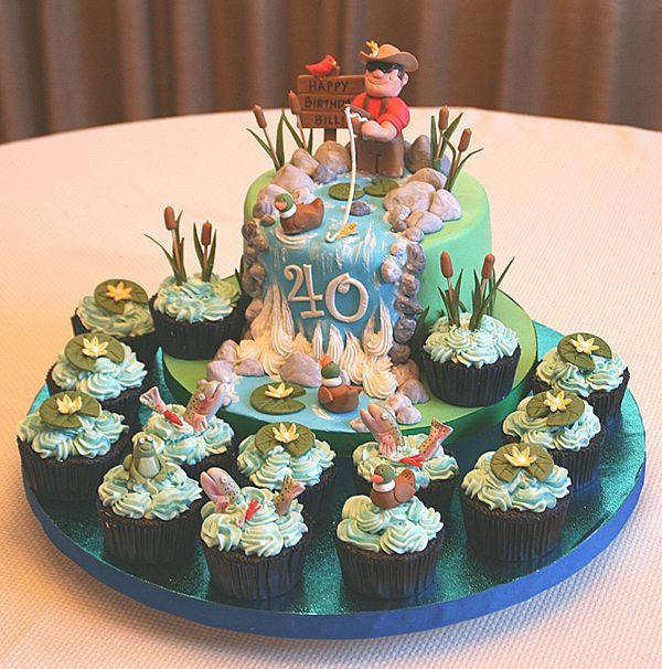 Incredible Fly Fishing Cake Fish Cake Birthday Fish Cake Cake Funny Birthday Cards Online Overcheapnameinfo