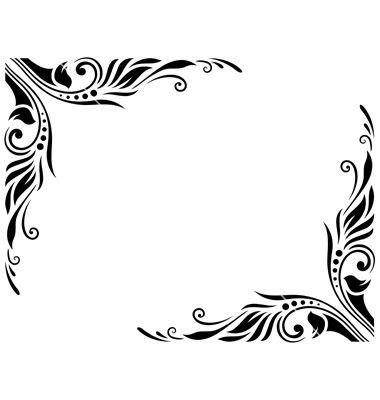 Decorative Border Style 3 Large Vector On Vectorstock Wedding Symbols Decorative Borders Clip Art Borders