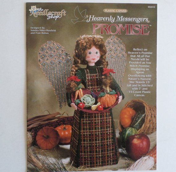 Spirit Heavenly Messengers angel plastic canvas pattern booklet NEW