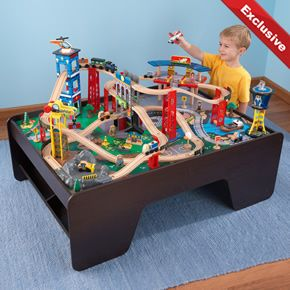 Super Highway Train Set and Table & KidKraft Super Highway Train Set \u0026 Table 17986 at MyToyBox.Com ...