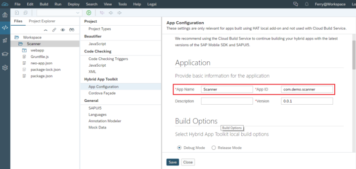 Build Android SAPUI5 OCR Scanner with SAP Web IDE and Anyline OCR