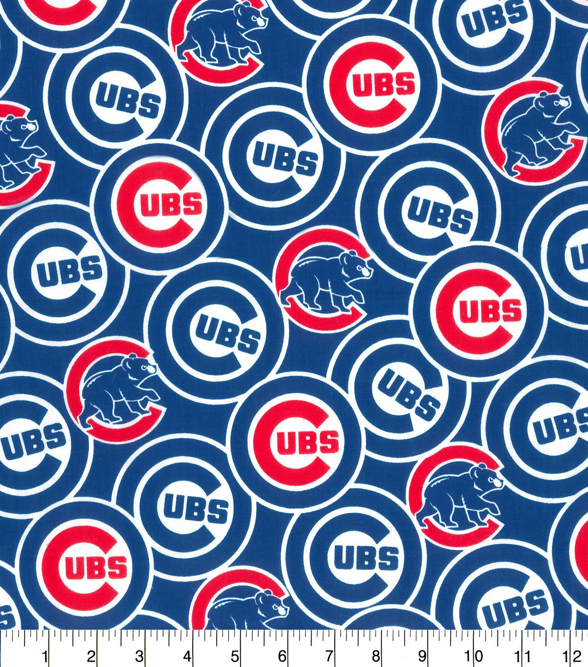 Chicago Cubs Cotton Fabric Packed Cotton fabric, Fabric
