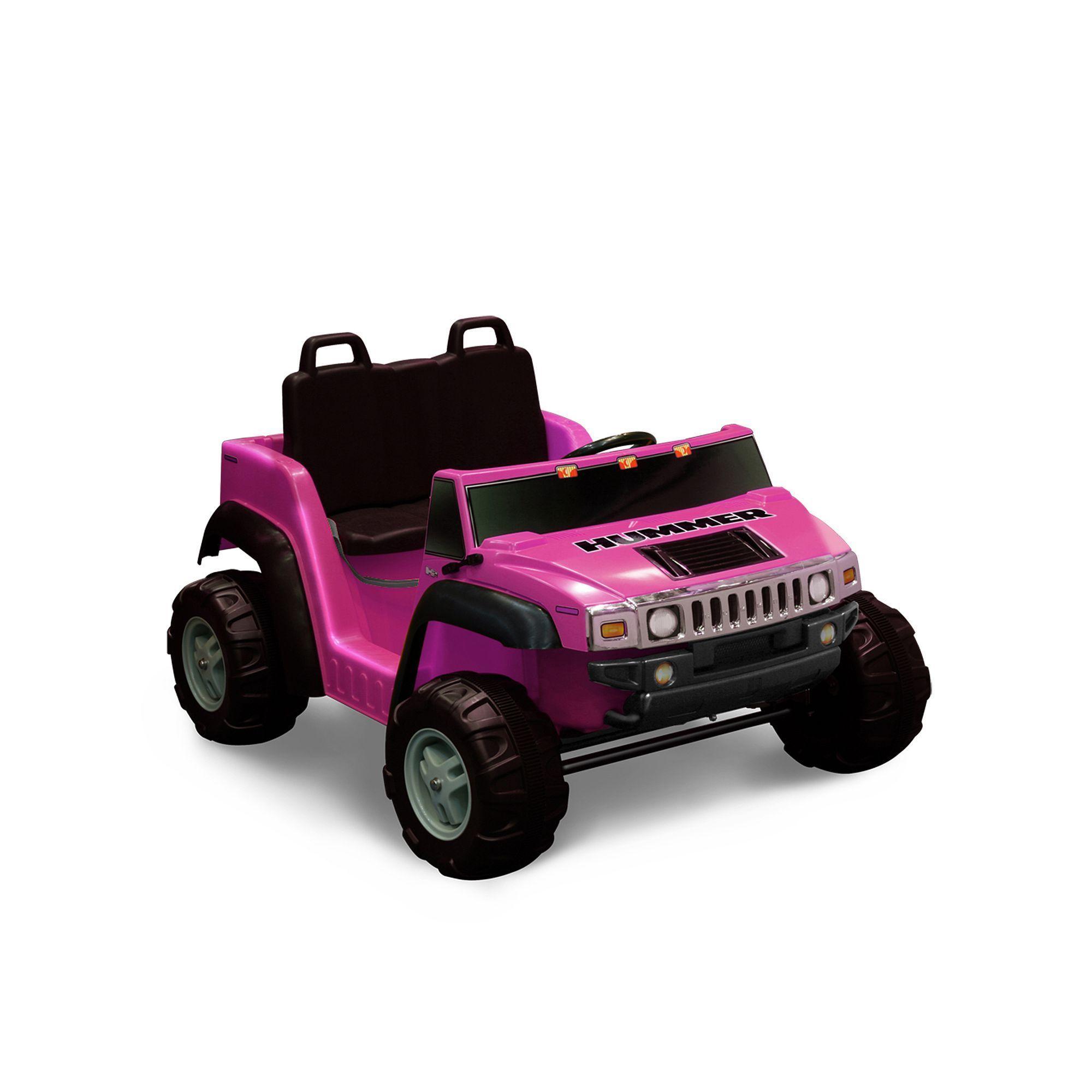 National Products 14V Hummer H14 Ride-On, Pink #rideontoys ...   12v hummer