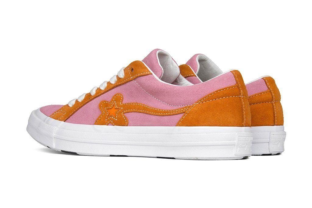 Converse X Golf Le Fleur One Star Ox Candy Pink Orange Peel Bubblegum Pink Shoe Releases New Shoes Sneaker Boutique