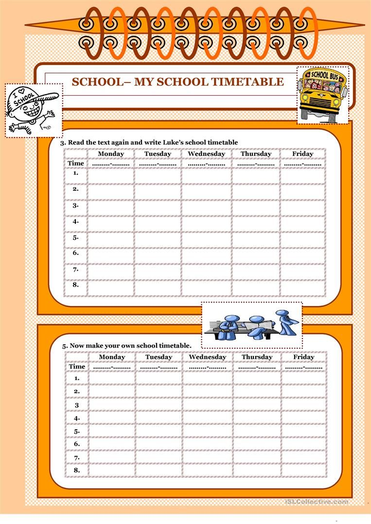 Let S Read And Write About 6 My School Timetable Worksheet Free Esl Printable Worksheets Made By Teachers School Timetable Reading Writing I School [ 1079 x 763 Pixel ]