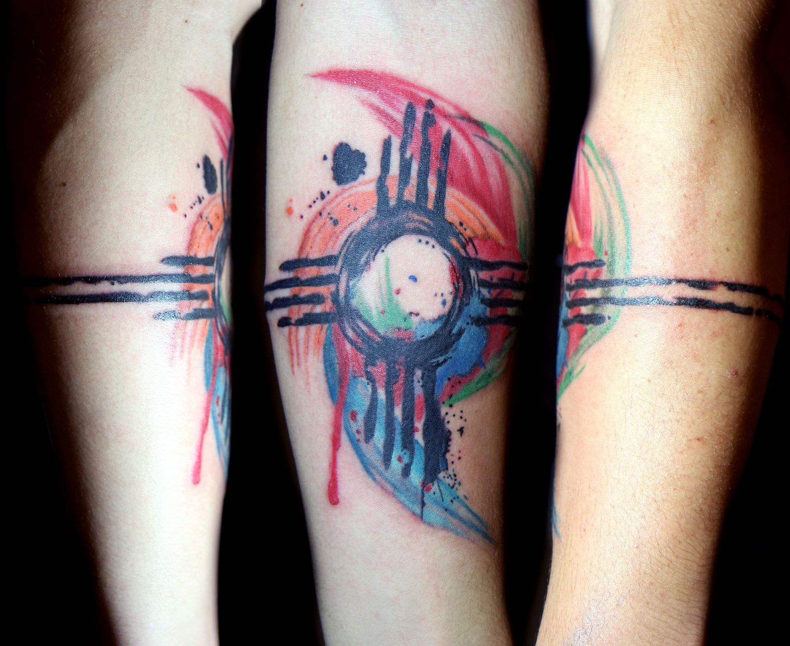 Watercolor Zia Symbol Tattoo My Homeland Pinterest Symbols