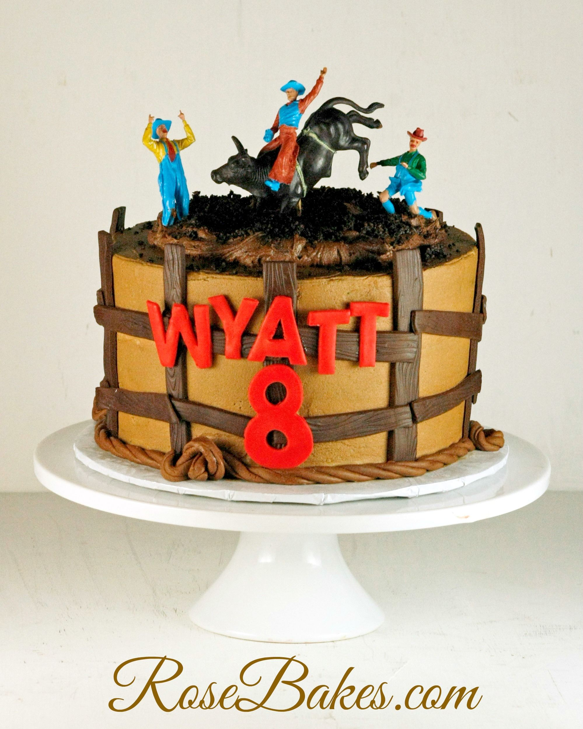 Bull Riding Cowboy Cake Cowboy cakes Bull riding and Cowboys