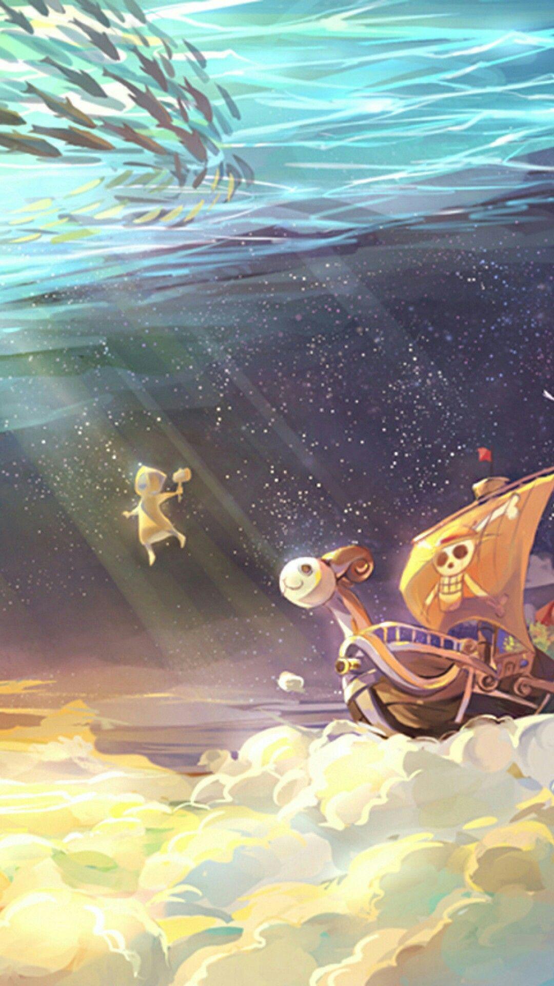 Going Merry Y Klabautermann One Piece Skypiea ルフィ イラスト ルフィ 画像 壁紙 アニメ