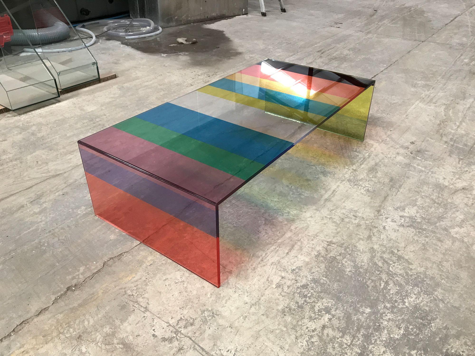 Striped Uv Bonded Glass Coffee Table Glass Furniture Laminated Glass Coffee Table [ 1500 x 2000 Pixel ]