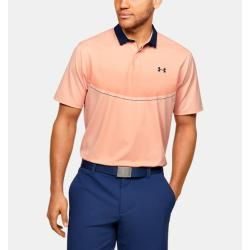 Photo of Under Armor Men's Ua Iso-Chill polo shirt in graphic design Orange Xl Under Armor